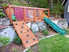 Fun backyard playground for kids ideas (35)