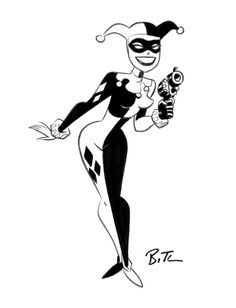 Harley Quinn Sketch by Bruce Timm