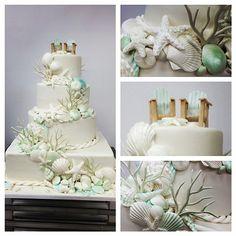 Beautiful beach wedding cake! :)