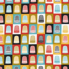 Thimbles, printed fabric by Cloud9