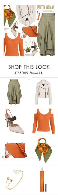"""""""Untitled #3700"""" by beebeely-look ❤ liked on Polyvore featuring Kitx, Étoile Isabel Marant, Hermès, Clinique, WorkWear, leatherjacket, casualfriday, officewear and zaful"""