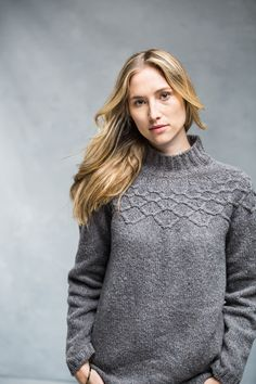 """Brooklyn Tweed's """"zenith"""".  Knit in the round."""