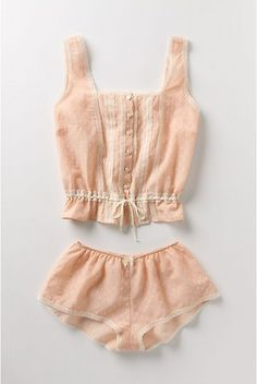 delicate underthings, would love these as pyjamas! - could totally make something similar out of a reused nightgown ♥