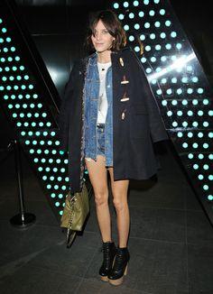 teenvogue: Alexa Chung Orla Kiely coat