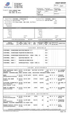 3 credit reports and scores cheap credit score repair companies credit report template