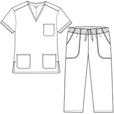 Fashion Sewing Patterns for Professionals Medical Uniforms, Dress Sewing Patterns, Clothing Patterns, Scrubs Pattern, Large Size Clothing, Scrubs Outfit, Flat Sketches, Lab Coats, Kimono