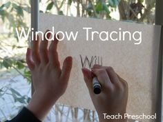 Window tracing on a sunny day