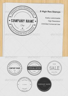 Set of 5 Stamps - GraphicRiver Item for Sale