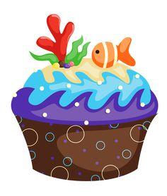 "Photo from album ""Торты, пирожное"" on Yandex. Cupcake Png, Cupcake Clipart, Cupcake Cakes, Cup Cakes, Collages, Disney Clipart, Cupcake Heaven, Diy Calendar, Baby Clip Art"