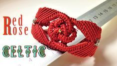 Macrame bracelet tutorial - The big red rose in Celtic pattern - Hướng d. Macrame Colar, Macrame Necklace, Macrame Jewelry, Macrame Bracelets, Armband Tutorial, Macrame Bracelet Tutorial, Jewelry Knots, Jewelry Crafts, Diy Bracelets With String