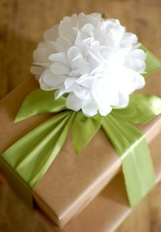 kraft paper box and tissue wrapping