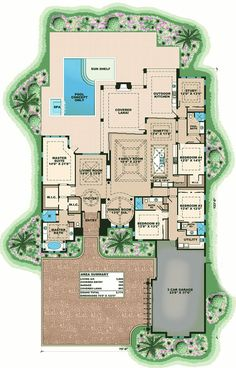 Lavish Florida House Plan - 66357WE | 1st Floor Master Suite, Butler Walk-in Pantry, CAD Available, Den-Office-Library-Study, Luxury, PDF, Photo Gallery, Premium Collection, Split Bedrooms | Architectural Designs