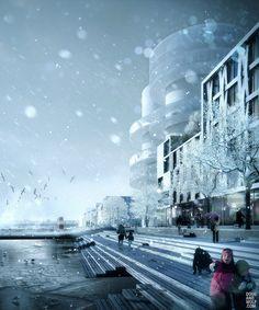 COBE - Nordhaven, DK - Northern Harbour   / visual dougandwolf