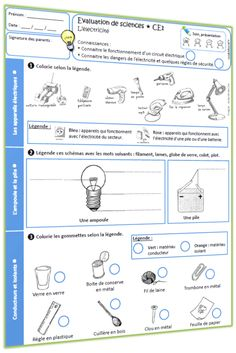 Science Experience, French Worksheets, Cycle 3, Physics, Map, Education, Voici, School, Exactement