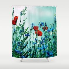 Cornflowers, poppies and chamomile in vintage look by Tanja Riedel ABOUT THE ART Cornflowers, poppies, nature, field...