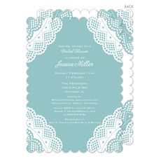 Lagoon Vintage Lace Invitations