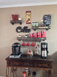 ideas breakfast coffee bar hot chocolate for 2019 Coffee Area, Coffee Bar Home, Coffee Corner, Coffee Shop, Iced Coffee, Coffee Bar Station, Home Coffee Stations, Best Breakfast Bars, Diy Bar