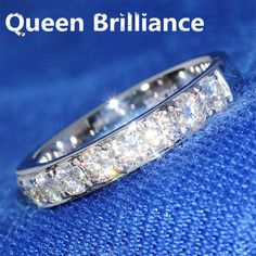 Good price Luxury 1.5 Carat ct 3mm F Color Engagement Band Wedding Lab Grown Moissanite Diamond Band For Women Solid 14K 585 White Gold just only $322.00 - 578.00 with free shipping worldwide  #finejewelry Plese click on picture to see our special price for you