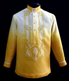 Gold Jusilyn Barong Tagalog - Barongs R us Modern Filipiniana Dress, Barong Tagalog, Philippines Fashion, Line Shopping, Fashion Dolls, Suits, Stylish, Casual, Pinoy