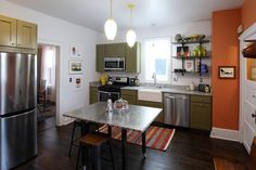 Old meets new - remodeled kitchen in 1890s home #remodelingkitchen