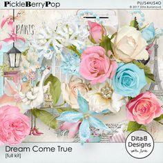 DitaB Designs:   individual packs  DREAM COME TRUE 37elements...