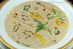 Crème de morilles aux copeaux de foie gras
