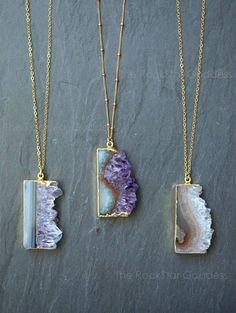 3f12cf03c9e5 Collar de amatista   amatista joyería oro collar   collar de piedras  preciosas   regalo para