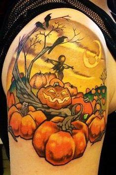 Pumpkin Patch 1/4 Sleeve Tattoo