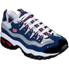 Get back to the fundamentals of sneaker style and comfort with the SKECHERS Energy - Wave Linxe shoe. Smooth leather, soft suede, synthetic and mesh fabric upper in a lace up sporty walking fashion sneaker with stitching and overlay details. Suede Shoes, Slip On Shoes, Women's Shoes, Sneakers Fashion, Fashion Shoes, Women's Sneakers, Pink Fashion, Fashion Women, Sketchers Shoes Women