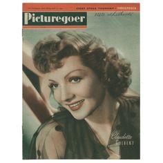 claudette colbert movie magazine covers | 17 1943 claudette colbert picturegoer april 17 1943 claudette colbert ...