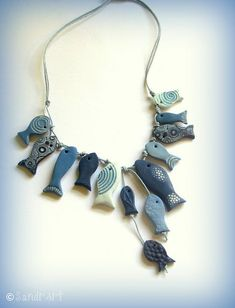 cute necklace was on a denim recycle idea pinterest board-dmw