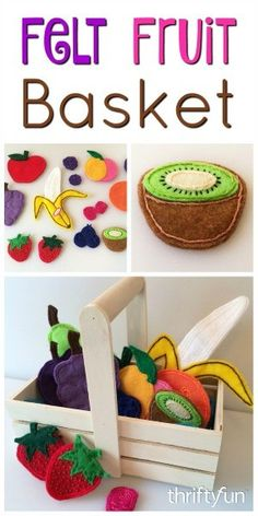 This is a guide about making a felt fruit basket. This colorful, fun to make felt project will bring hours of fun to your child and is perfect for a teaching moment.