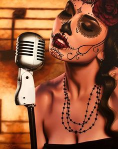 Lowbrow Art Company Bride Cocktail Art Print by Artist Mike Bell Stretched Canvas Prints, Canvas Art Prints, Framed Art Prints, Dead Makeup, Skull Makeup, Makeup Art, Art Chicano, Framed Tattoo, Simple Skull