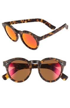 The color scheme of these red and tortoise Illesteva sunglasses couldn't be more appropriate for fall! A favorite find from shopping the Anniversary Sale.