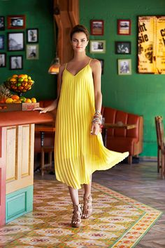 This fab statement maker isn't just for the school girls anymore — let it flow with a yellow stunner from Bar III Little Fashion, Fashion Group, Review Dresses, Summer Trends, County Mall, Dress Skirt, What To Wear, Ready To Wear, Girl Outfits