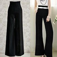 100% Brand New.  Material: Polyester  Occasion: Casual  Color: Black  It will make you look more sli
