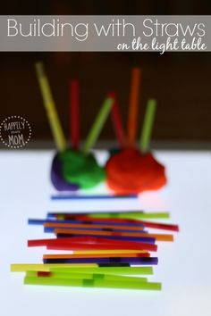 Preschool Math: Building on the Light Table - Happily Ever Mom