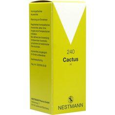 CACTUS H 240 Tropfen:   Packungsinhalt: 100 ml Tropfen PZN: 01009687 Hersteller: NESTMANN Pharma GmbH Preis: 12,35 EUR inkl. 19 % MwSt.…