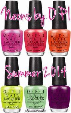 Neons by OPI Summer 2014