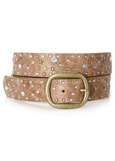 Cinturón tachonado marrón bpc bonprix collection   14.99 €   bonprix