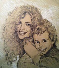 crayon personnalisé sketch12 x 16 portrait de photo