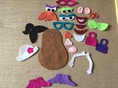 Piezas de fieltro Junta que caben en el recorrido fieltro Junta. Mrs. Potato head con 27 piezas. Simple y divertido para niños de diseño propio. Sra. Potato mide aproximadamente 7 de altura. Libre Inicio mascota y no fumadores.