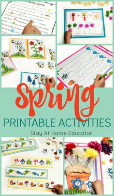 This Pack Contains Six Fun And Educational Spring Themed Activities Appropriate For Preschool Through Kindergarten