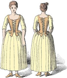 Two Nerdy History Girls: What the Maidservant Wore, c 1770. Like ...