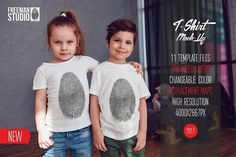 Kids T-Shirt Mock-Up Vol.3 2017 by Freeman Studio on @creativemarket