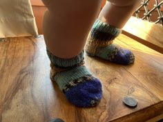 Excited to share this item from my #etsy shop: Blue striped boho socks for a toddler boy 9-12 months Knitting Socks, Hand Knitting, Baby Mittens, Kids Socks, Toddler Boys, Color Patterns, 12 Months, Slippers, Etsy Shop