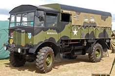"AEC MATADOR MILITARY VEHICLE Like the stretch tent silhouette look of the ""mickey mouse"" (so called because of the resemblance to mickey's ears) camouflage scheme 4x4 Trucks, Off Road Camping, British Army, British Tanks, Bug Out Vehicle, Model Tanks, Army Vehicles, Heavy Truck, Expedition Vehicle"