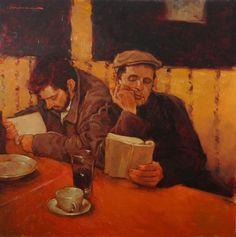 goodolarthistory:  Artist: Joseph Lorusso Title: The Readers