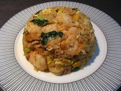 Shrimp and Salted Duck Egg Fried Rice (鹹鴨蛋蝦炒飯, Haam4 Aap3 Daan6 Haa1 Caau2 Faan6)