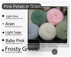 Red Heart Super Saver Color Mix: Pink Petals in Grass